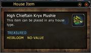 High Chieftain Kryx Plushie