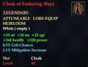 Cloak of Enduring Ways