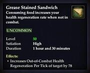 Grease Stained Sandwich