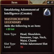 Smoldering Adornment of Intelligence (Greater)