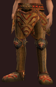 Empyrean Greaves of the Myrmidon (Equipped)