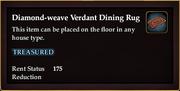 Diamond-weave Verdant Dining Rug