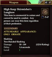 High Keep Skirmisher's Longbow