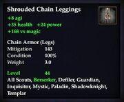 Shrouded Chain Leggings
