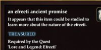 An efreeti ancient promise