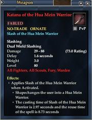 Katana of the Hua Mein Warrior