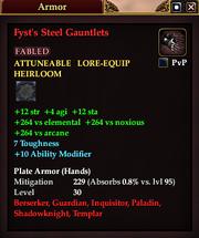 Fyst's Steel Gauntlets