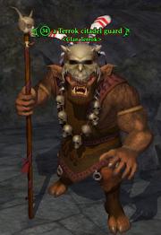 A Terrok citadel guard