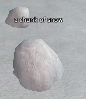 Chunck of snow