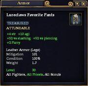 Lureclaws Favorite Pants