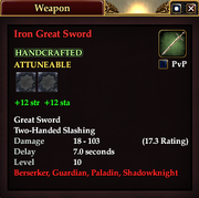 Iron Great Sword