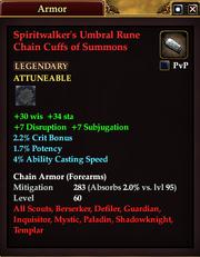 Spiritwalker's Umbral Rune Chain Cuffs of Summons