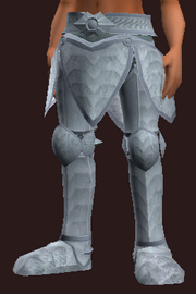 Acolyte's Wrought Plate Greaves (Equipped)