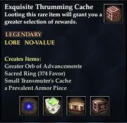 Exquisite Thrumming Cache