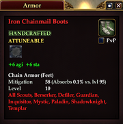 Iron Chainmail Boots