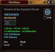 Trinket of the Faydark Druid