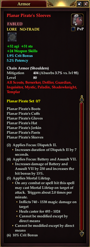 Planar Pirate's Sleeves