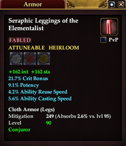 Seraphic Leggings of the Elementalist