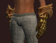 Elysian Cuffs of the Animist (Equipped)