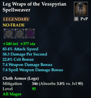 Leg Wraps of the Vesspyrian Spellweaver