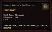 Vesspyr Warrior's Red Sleeves