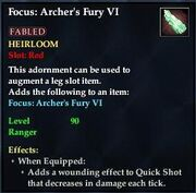Focus Archers Fury VI