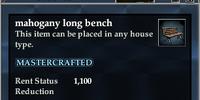 Mahogany long bench