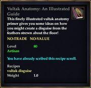Vultak Anatomy An Illustrated Guide
