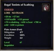 Regal Tonlets of Scathing