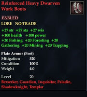 Reinforced Heavy Dwarven Work Boots