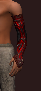 Worked Dragonhide Arm Wraps (Equipped)