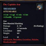Orc Captain Axe