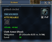 Pitted circlet