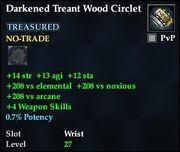 Darkened Treant Wood Circlet