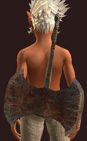 Blessed Iron Double Headed Axe (Equipped)