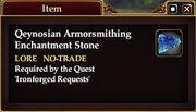 Qeynosian Armorsmithing Enchantment Stone