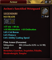 Archon's Sanctified Wristguard