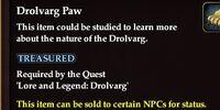 Drolvarg Paw