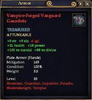 Vampire-Forged Vanguard Gauntlets