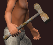Magma Forged Battle Hammer (Equipped)