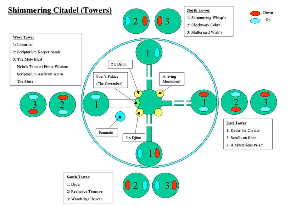 Map The Shimmering Citadel