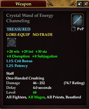 Crystal Wand of Energy Channeling