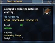 Miragul's collected notes on crafting