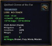 Quilted Gloves of the Fae