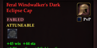 Feral Windwalker's Dark Eclipse Cap