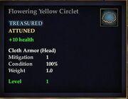 Flowering Yellow Circlet