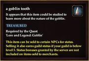 A goblin tooth
