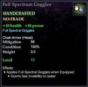 Full Spectrum Goggles