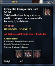 Elemental Conqueror's Boot Mold