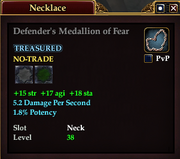 Defender's Medallion of Fear